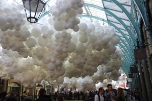 Balloon exhibit in Apple Market, Covent Garden, London