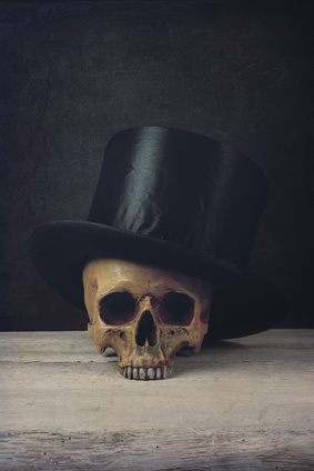 Vanitas with Skull and Topper Hat