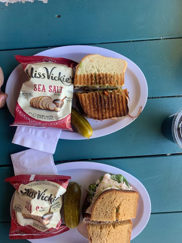 sandwiches at river rock roasting co