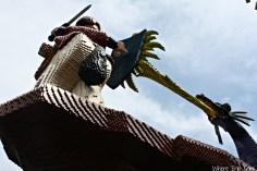 LEGO knight battles dragon
