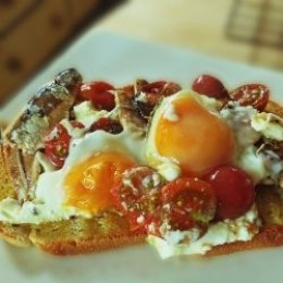Sardines and Eggs on Toast
