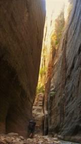 Narrow canyon Walls