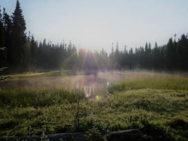 Mist Over Buesch Lake