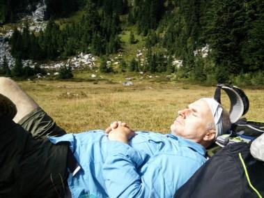 Bearclaw Napping Near Valhalla Lake