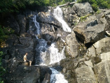 Krav Taking a Dip in the Falls