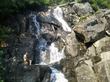 Krav Taking a Dip in the Falls