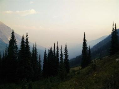 Looking ahead towards Tattie Peak