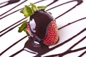 Chocolate Drizzled Strawberries for National Chocolate Covered Anything Day!