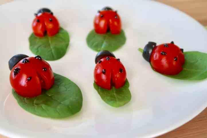 Vegetable Art Tomato Ladybugs
