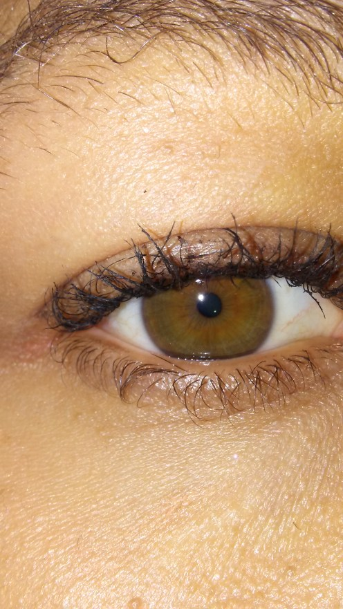 After applying COVERGIRL Super Sizer Fibers Mascara.