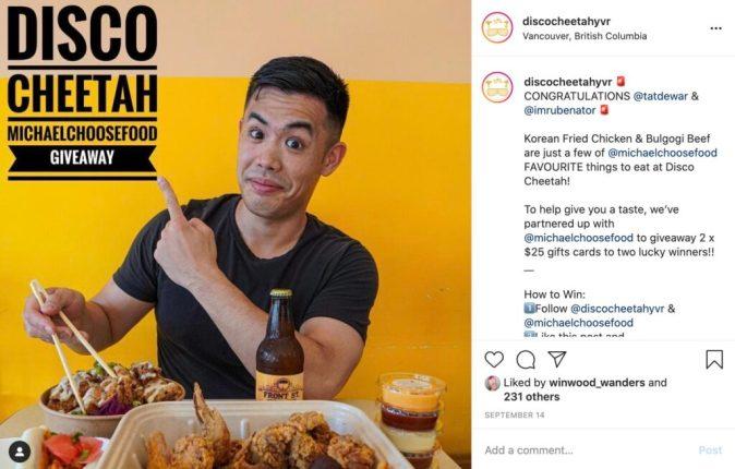 client feature disco cheetah korean grill - legendary social media vancouver