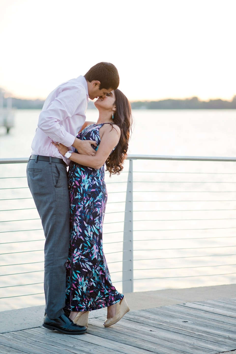 National Harbor Sunset Engagement Session by Erin Tetterton Photography