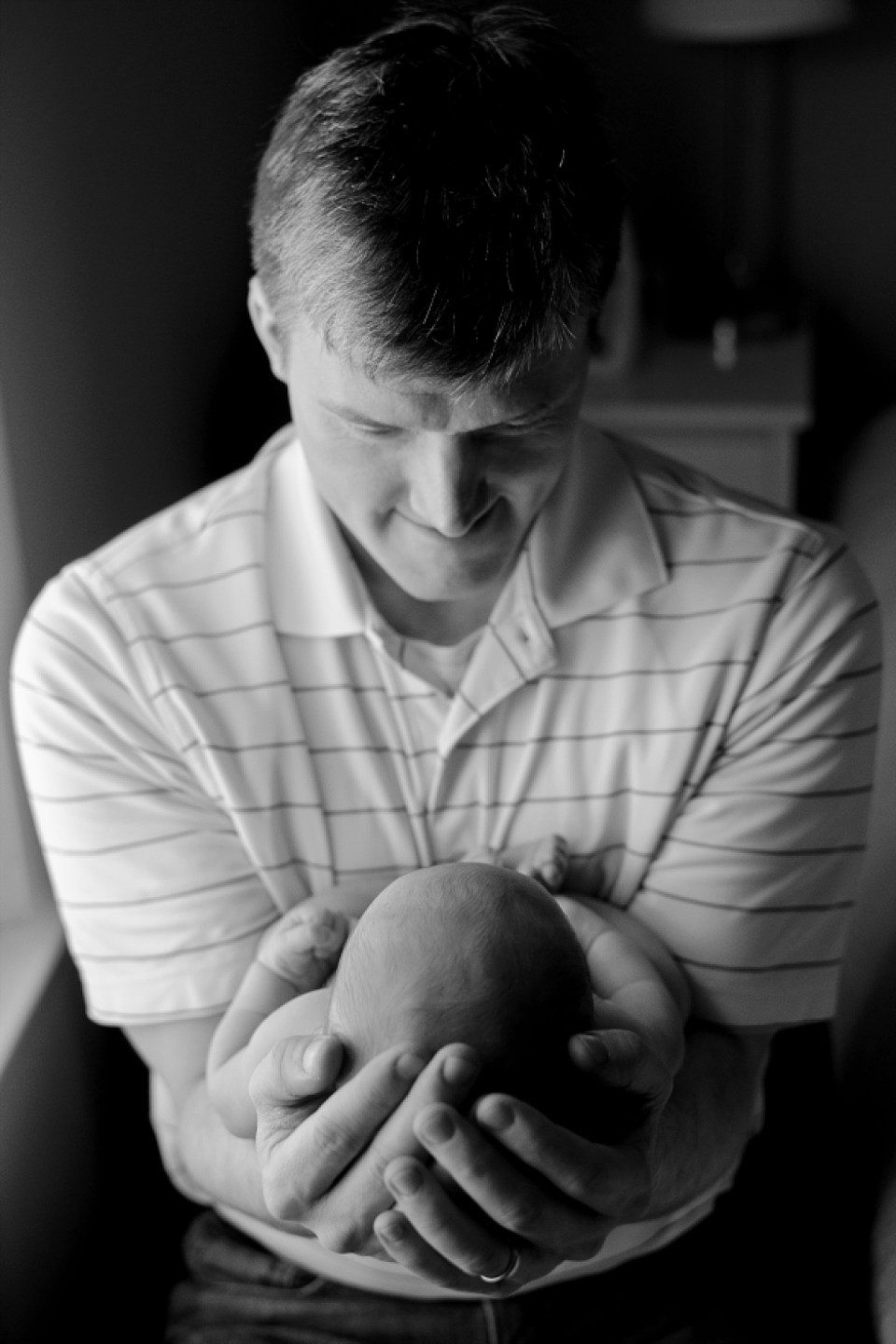 Black and White Newborn Photographer in Washington DC