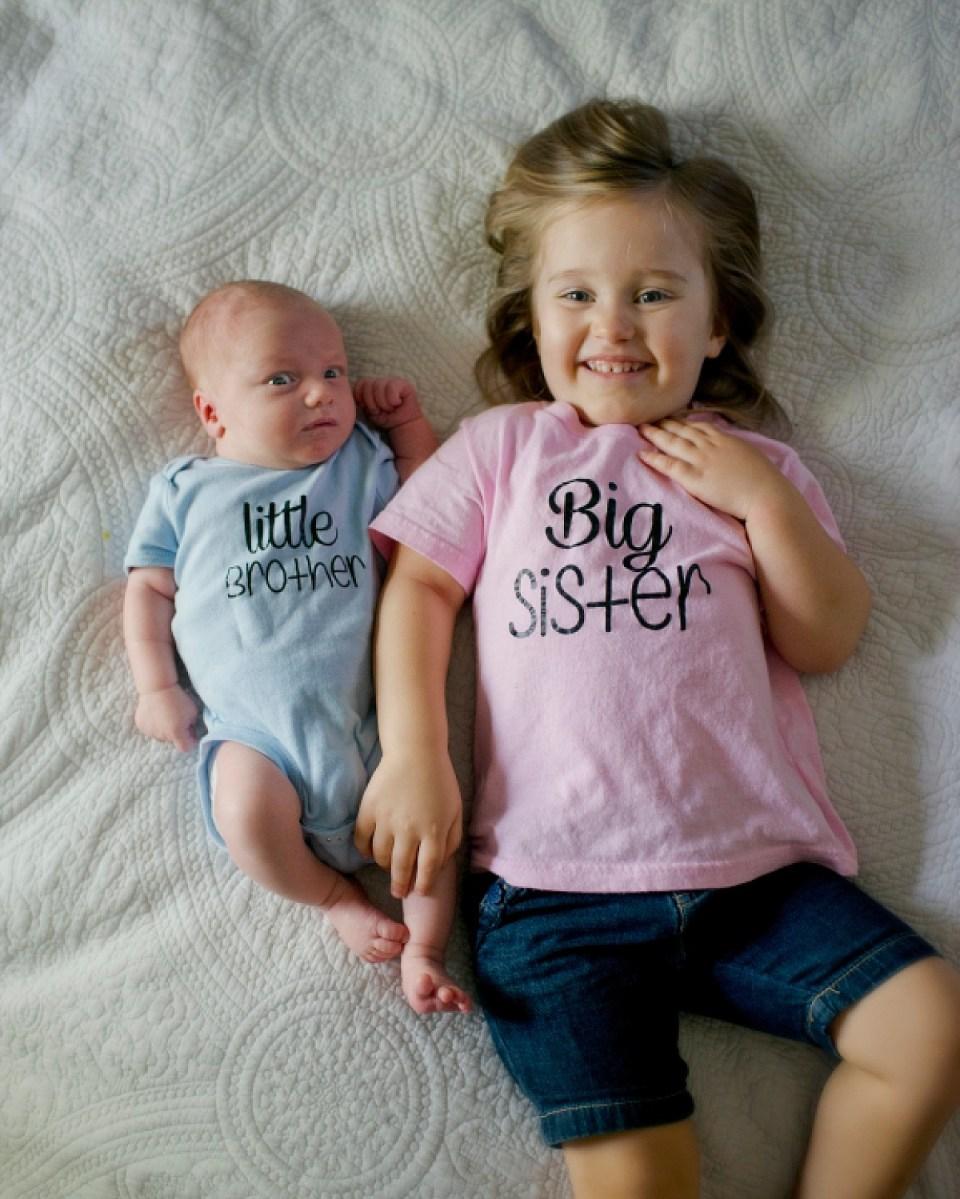 Newborn Poses with Sibling, Washington Dc Newborn Photographer