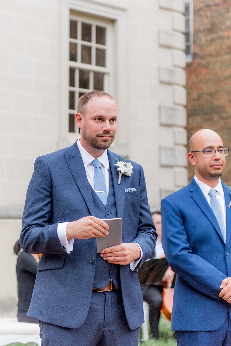 Wedding Ceremony at Carlyle House in Alexandria, VA