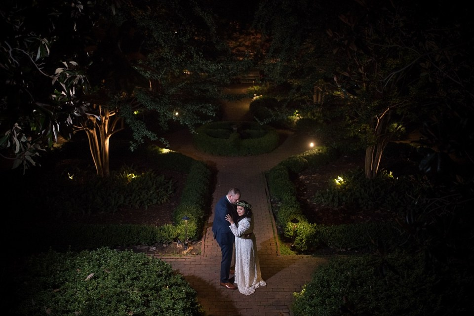 Night Portraits at Carlyle House Wedding in Alexandria, VA by Erin Tetterton Photography