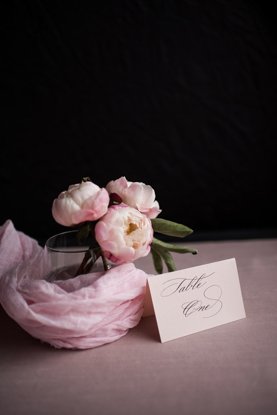 Peony and Plume Calligraphy Branding Session by Erin Tetterton Photography in Alexandria, VA