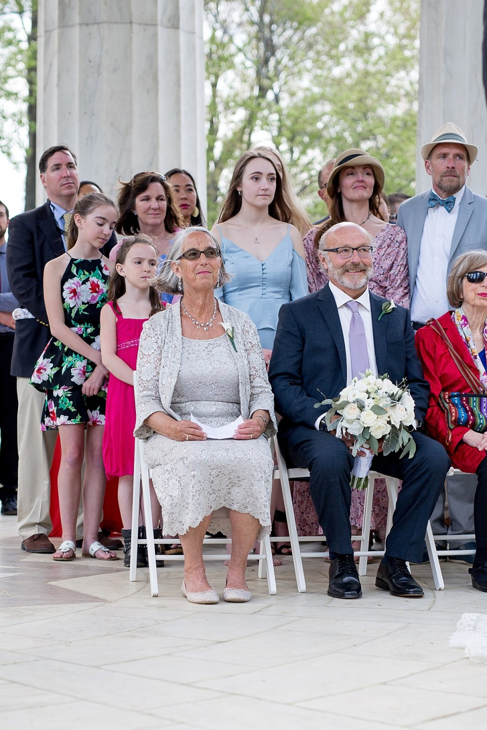 Wedding Ceremony in DC War Memorial by Erin Tetterton Photography