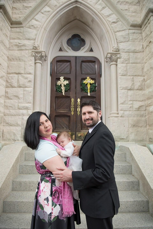 Baby Baptism at Catholic Church in Alexandria, VA