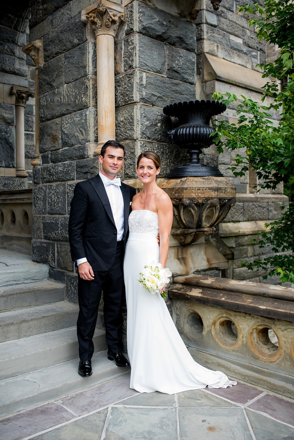 First Look at Georgetown University before Dahlgren Chapel Wedding