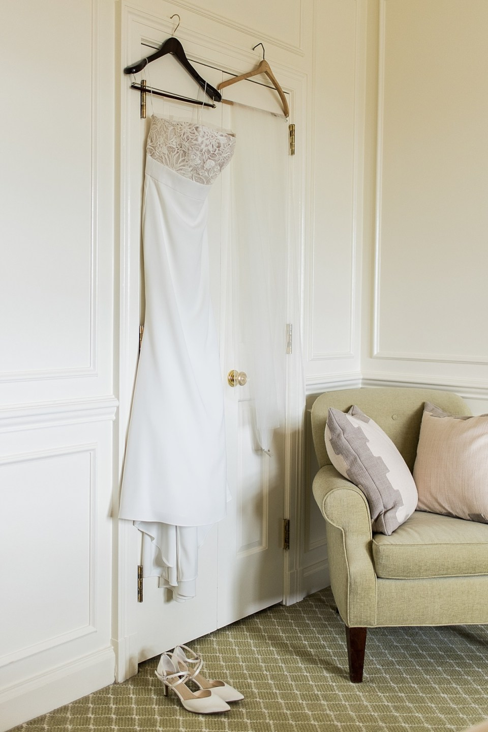 Wedding Details in Bridal Suite at The Hay Adams