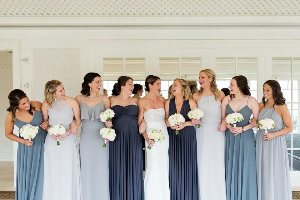 Bridesmaids at Top of the Hay