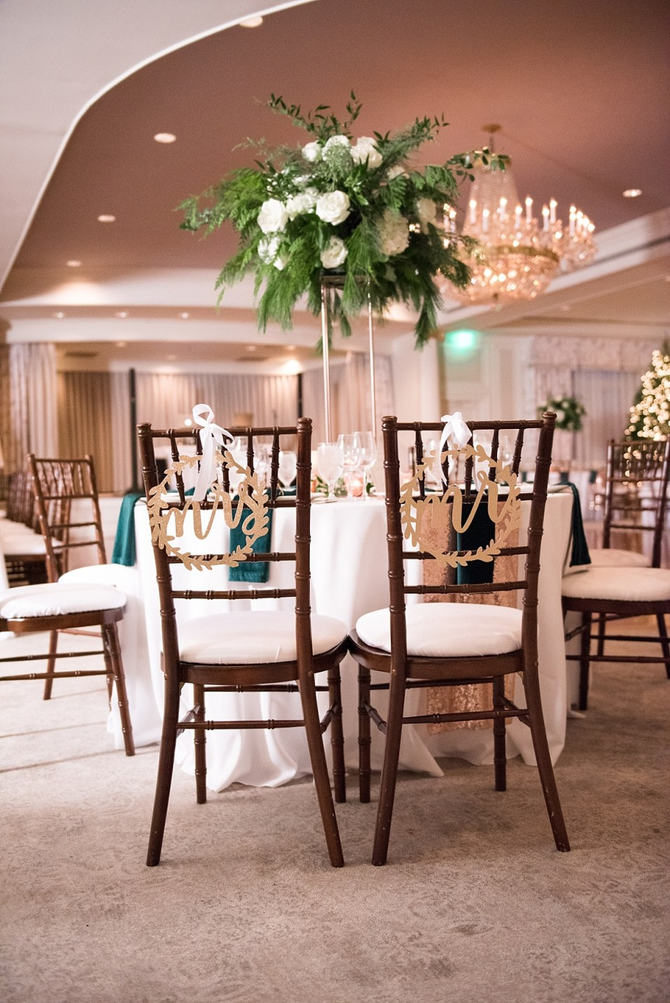 Christmas Wedding at Columbia Country Club in Chevy Chase, MD