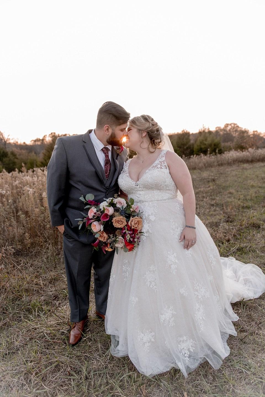 Sunset portraits at 48 Fields Wedding