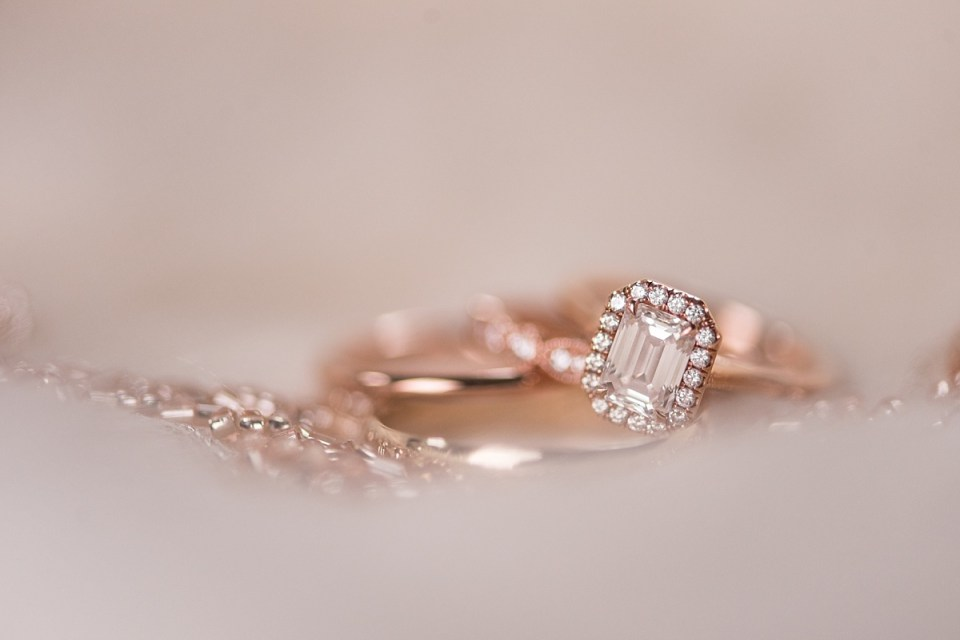 Rose Gold Winter Wedding in Chevy Chase, MD