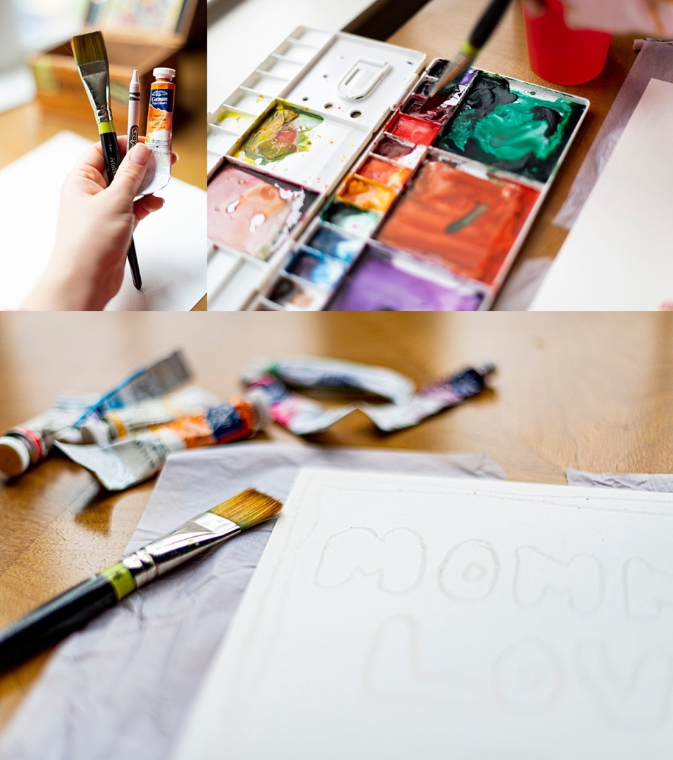 Indoor Activities to do with Kids - Invisible Ink with Watercolor and Crayons