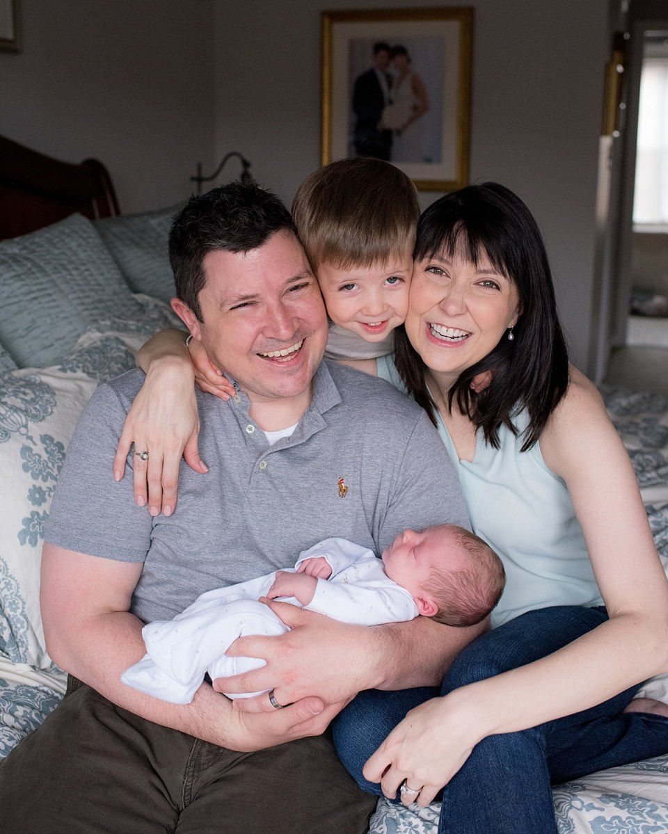 At Home Newborn Photography with the whole family