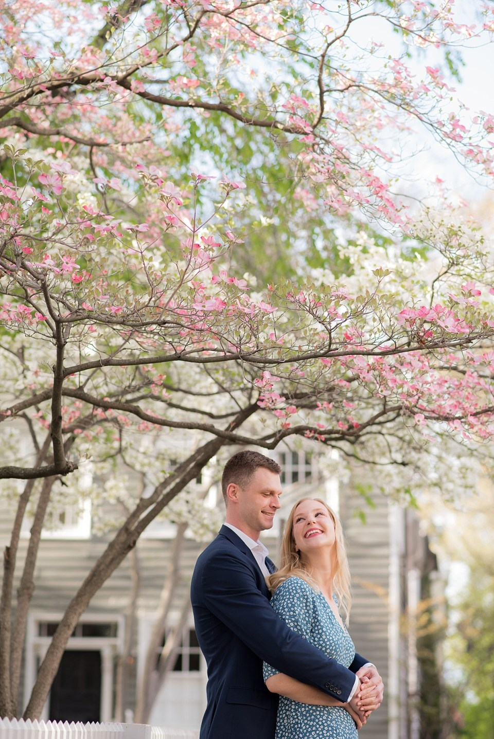 Spring Engagement Session in Old Town Alexandria