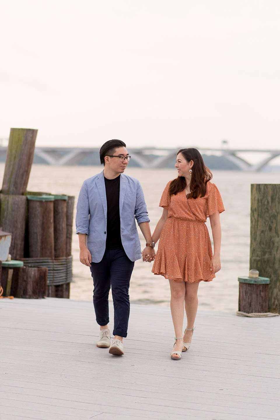 Engagement Session at the Waterfront in Alexandria, VA
