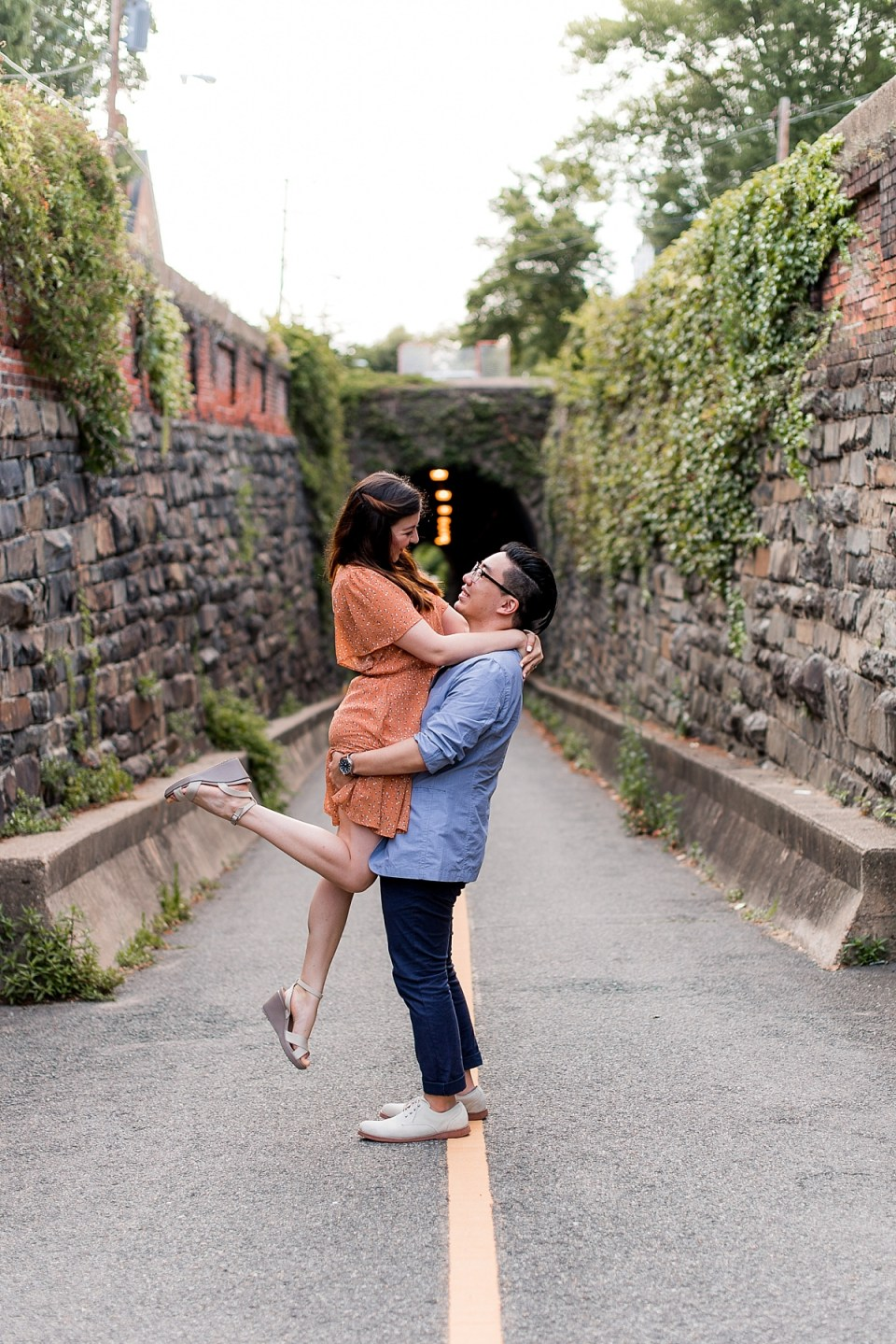 Engagement Session at Wilkes Tunnel in Alexandria, VA