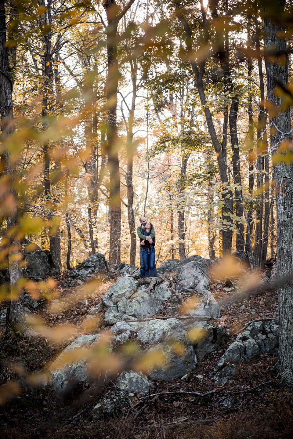 Great Falls Engagement Session in Fall