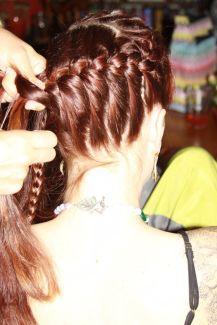 sarah's braid at blessingway