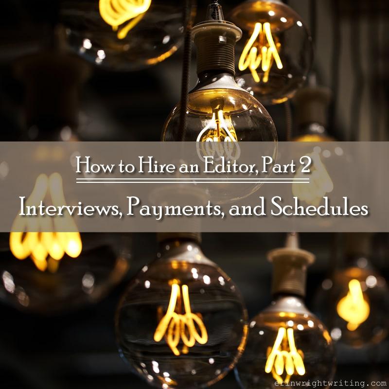 How to Hire an Editor, Part 2: Interviews, Payments, and Schedules | Image of Antique Light Bulbs