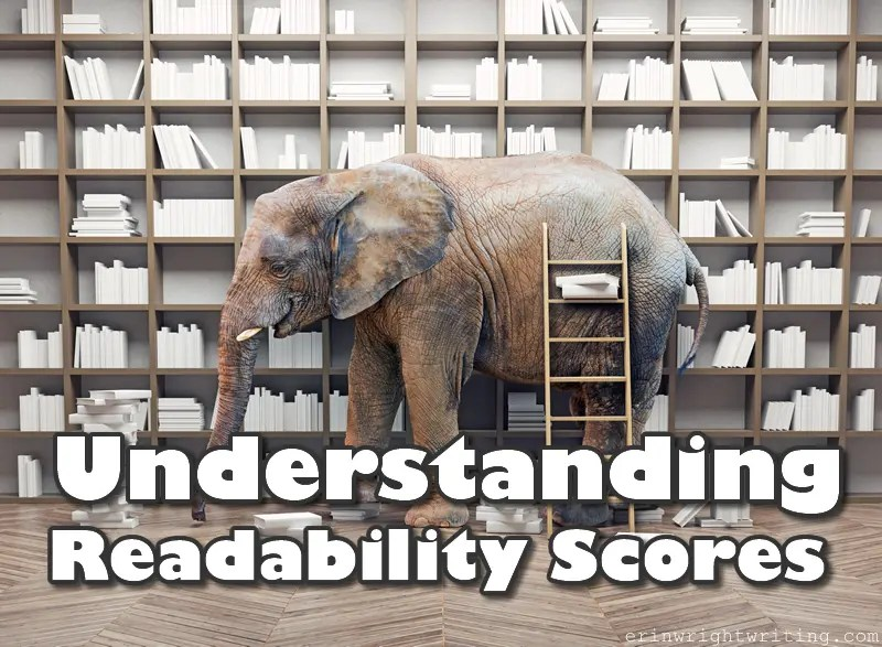 Understanding Readability Scores | Image of Elephant in Front of Bookcase