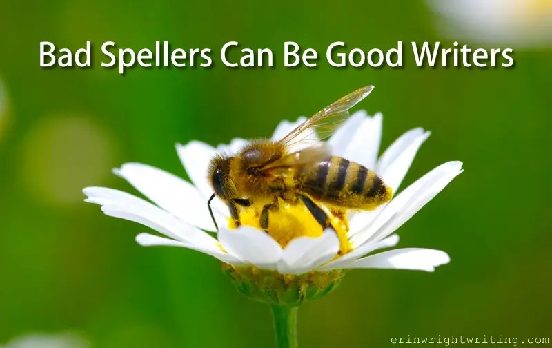 Bad Spellers Can Be Good Writers | Bee on flower