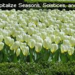 When to Capitalize Seasons, Solstices, and Equinoxes