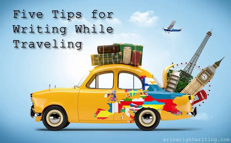 Five Tips for Writing While Traveling   Car with Suitcases