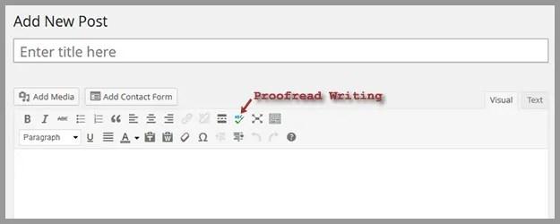 WordPress Proofread Writing