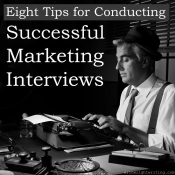 Eight Tips for Conducting Successful Marketing Interviews | Image of 1950s Style Journalist