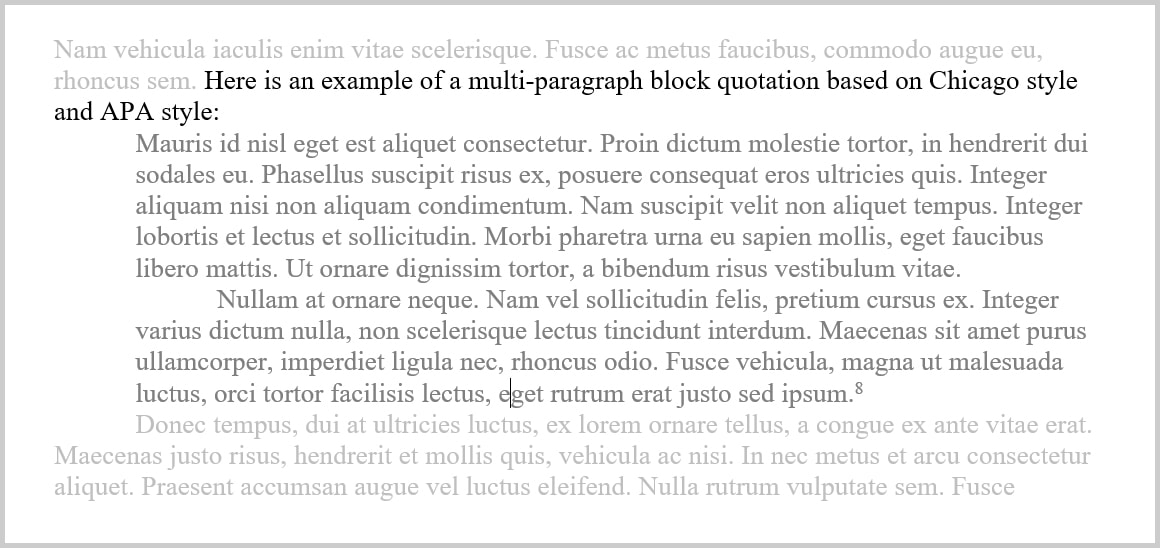Block quotations part 2 how to format block quotations
