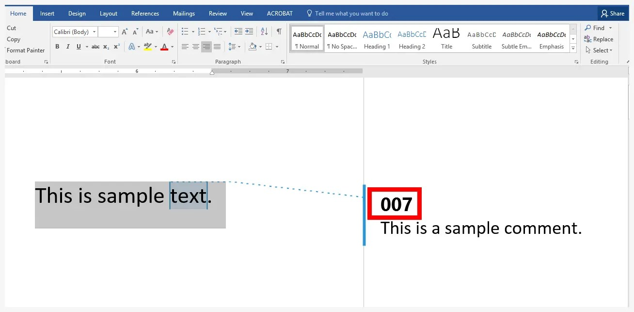 Word 2016 Track Changes User Name Example