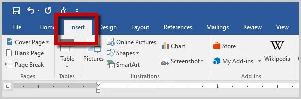 how to put spaces in word