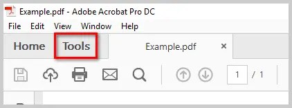 Image of Acrobat DC Tools Tab | How to Print PDFs with Comments and Mark-Ups in Adobe Acrobat DC