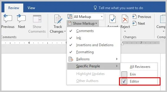 Microsoft Word Show Markup Drop-Down Menu Specific People | How to Copy and Paste Microsoft Word Comments