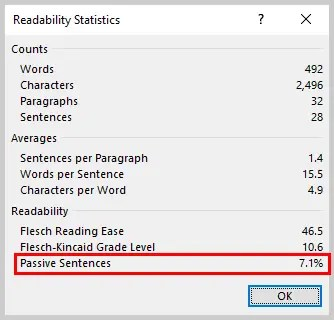 How to Use the Passive Voice Tool in Microsoft Word 2016 (Tutorial)