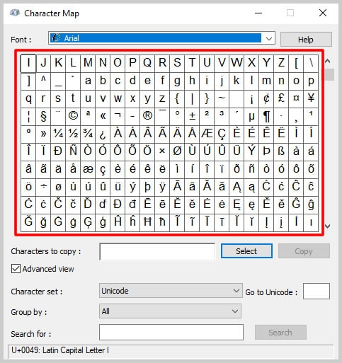 Windows 10 Character Map Character Menu | How to Insert Trademark, Copyright, and Registered Symbols in PDFs